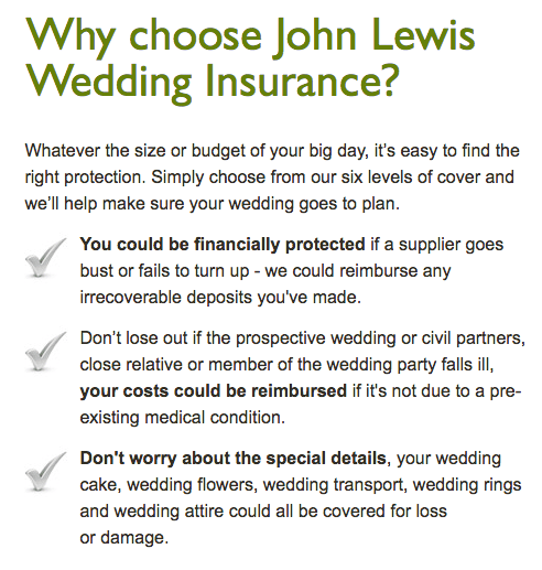 wedding insurance with steelasophical john Lewis 3