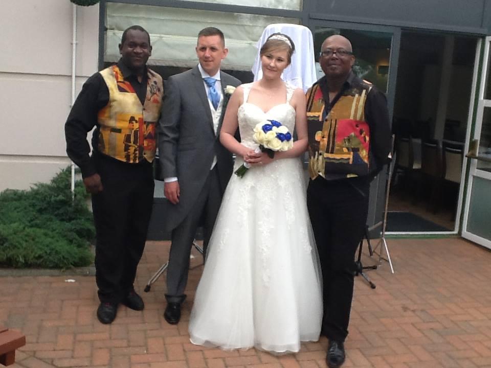 steel band steelband bride groom