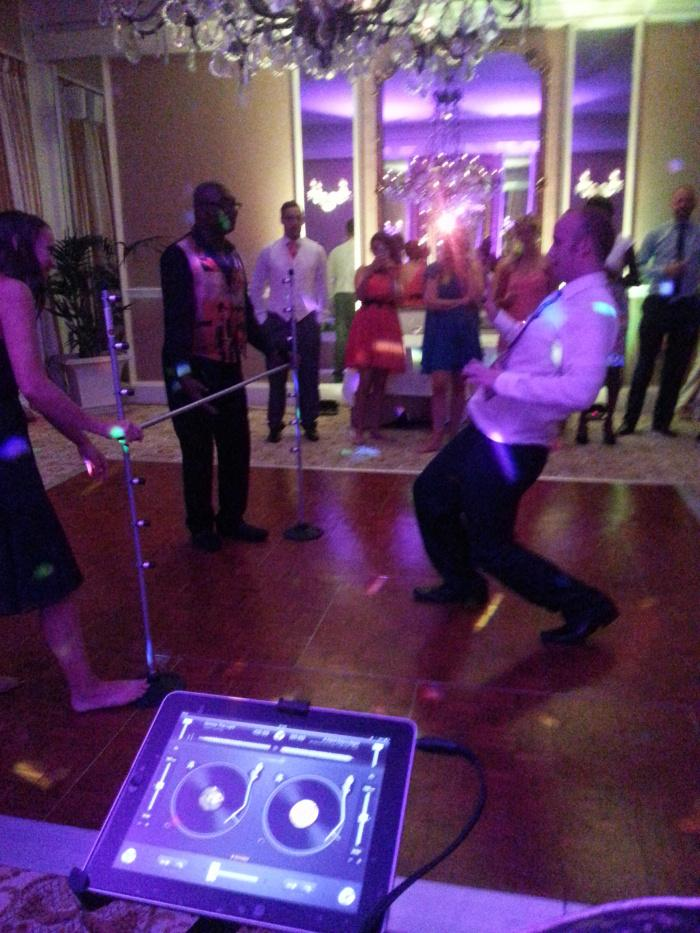 Old Government House OGH Steel band wedding limbo dancing groom