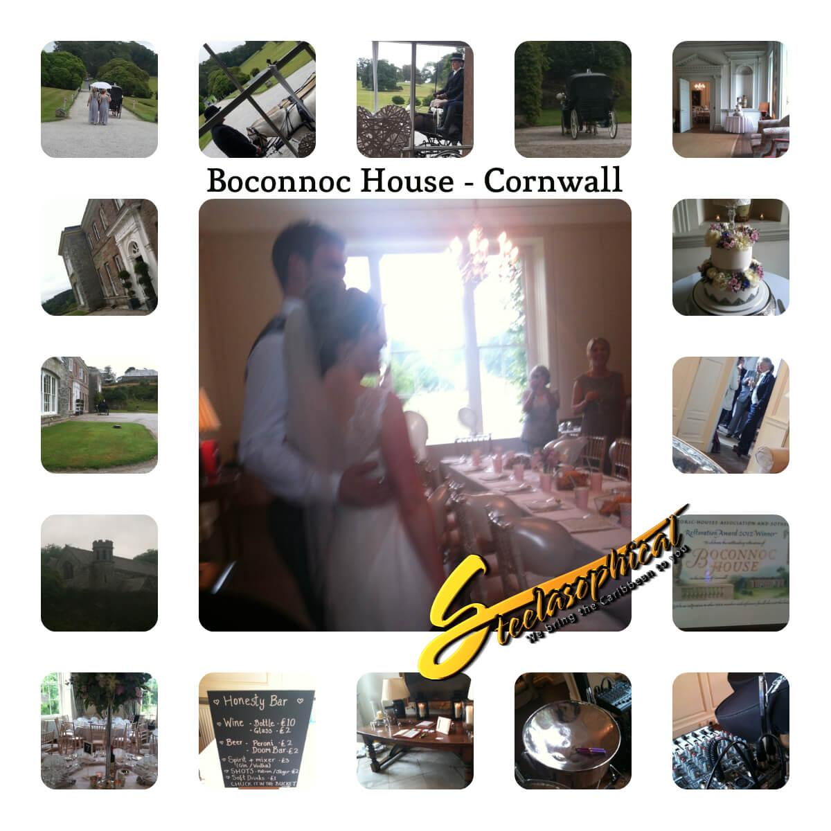 Boconnoc house wedding steel band hire