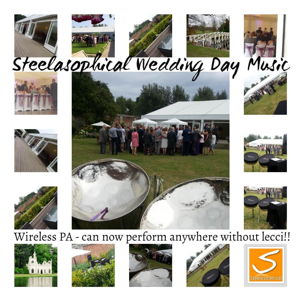 Steelasophical steelband steelpan wedding day music ceremony drinks reception wedding breakfast evening dancing