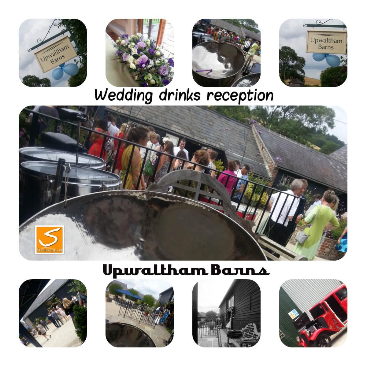 real weddings steelasophical steel band hire uk 1 upwalthams barn
