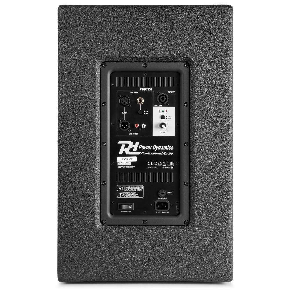 Power Dynamics PD812A Bass back