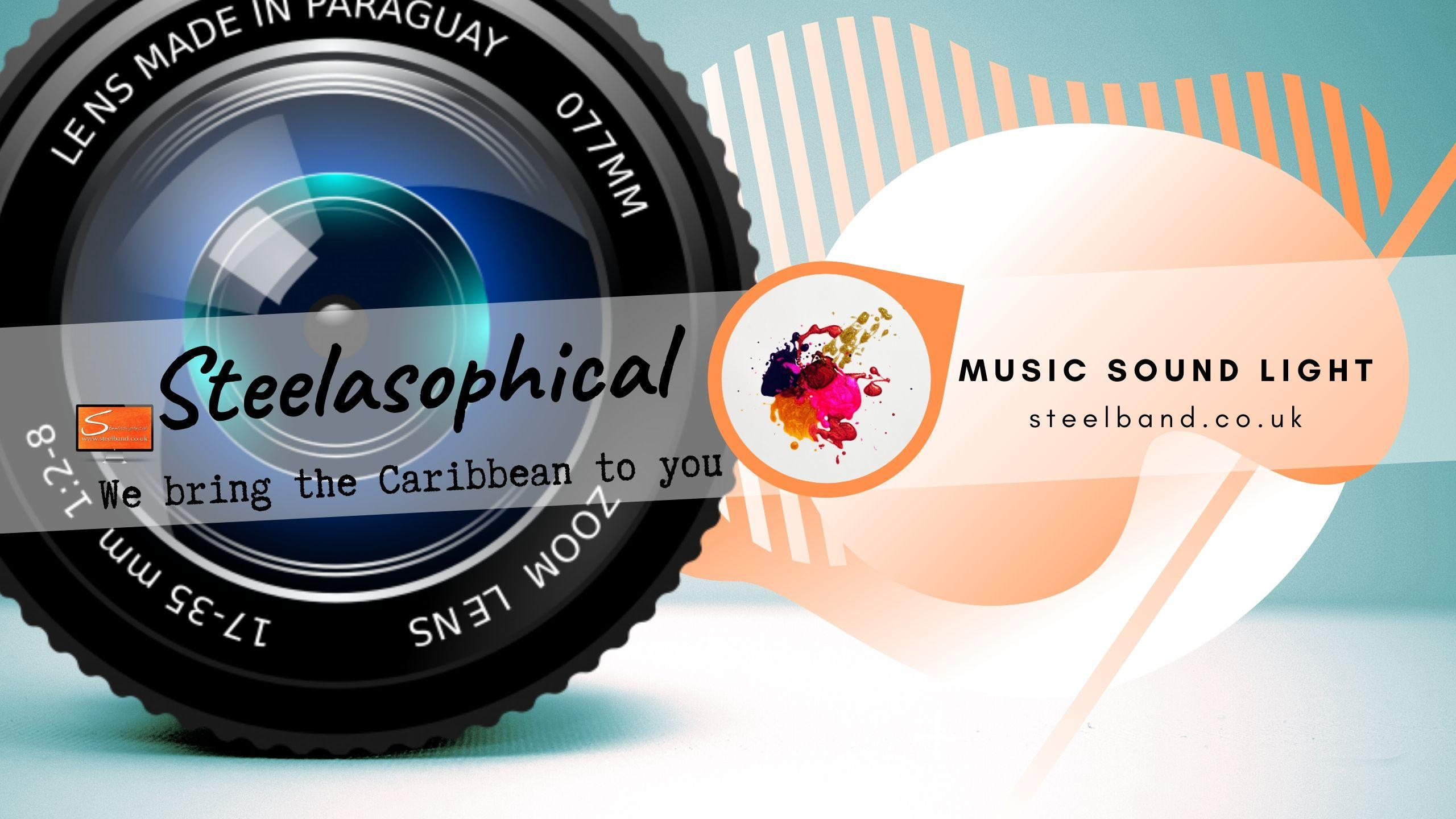 Steelasophical SteelBand for Hire UK steelpans Steeldrums Caribbean Music 01er