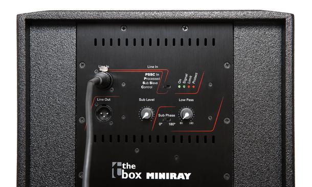 the box Miniray Array PA System steelasophical vv