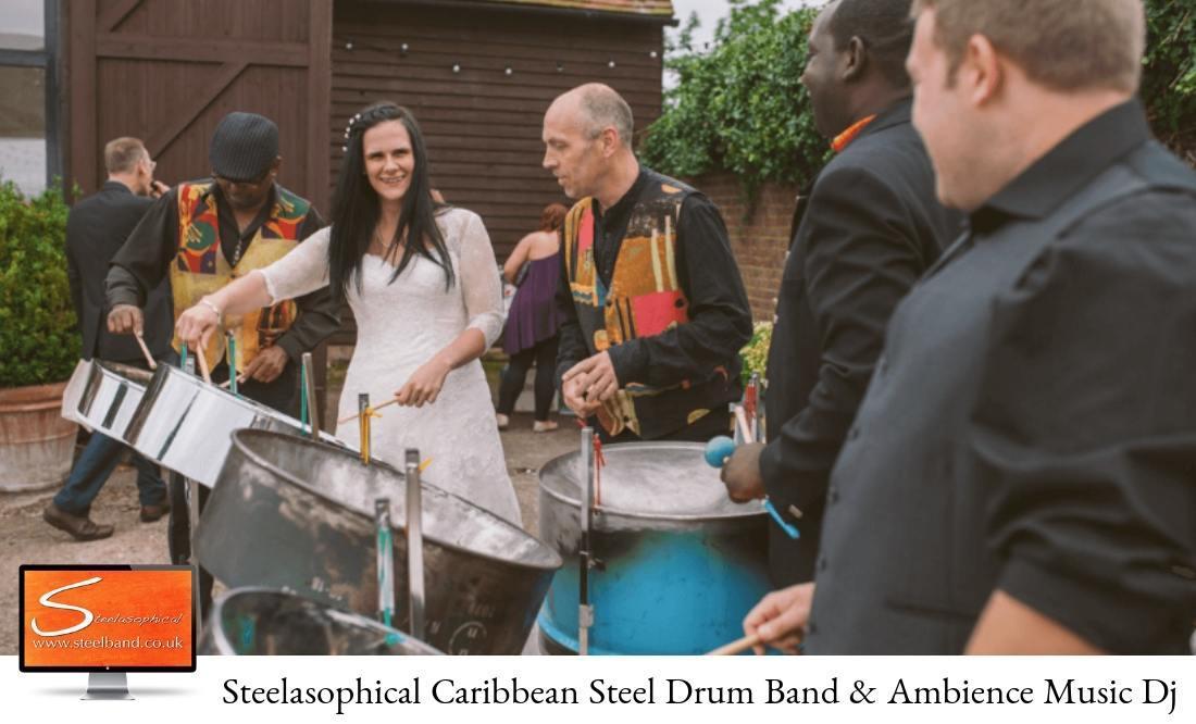 steelasophical wedding steel band DJ Music hire workshop