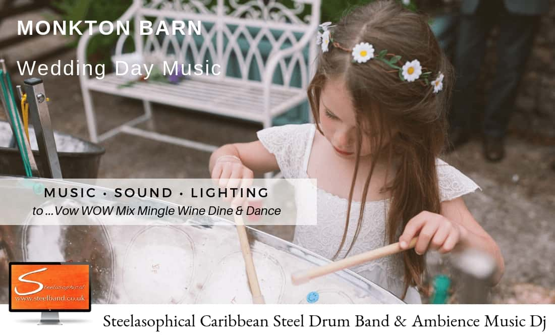 Steelasophical Wedding Steel Band | Monkton Barn