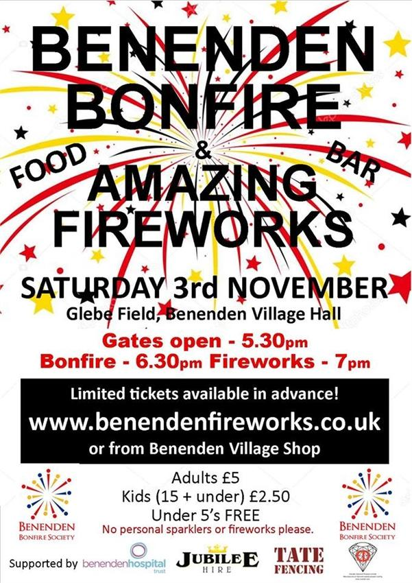 BENENDEN BONFIRE FIREWORKS Steelasophical steel band DJ 2018