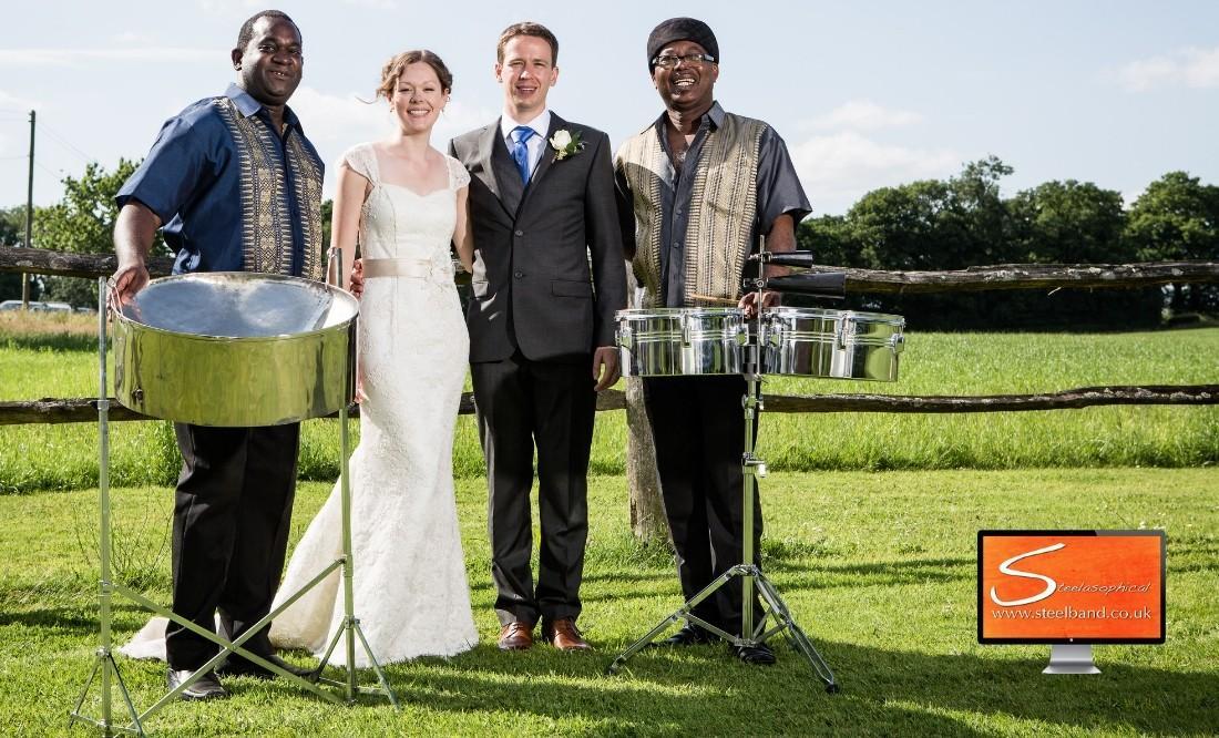 Bartholomew Barn Wedding Steelasophical Steel band