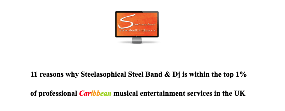 Gary Trotman Steelasophical premier uk based steel band for hirer