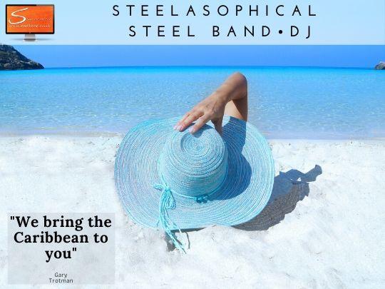 Reggae Steel Band and mobile Dj service music to dancing Steelasophical Steelpan