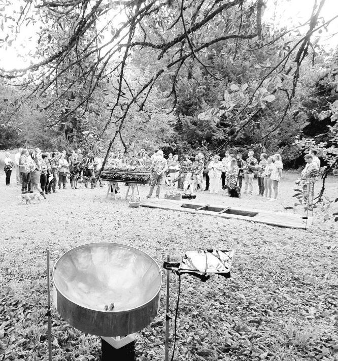 Steelasophical steel band - funeral day