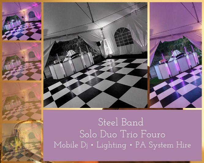 Caribbean Steel band hire solo duo trio fouro