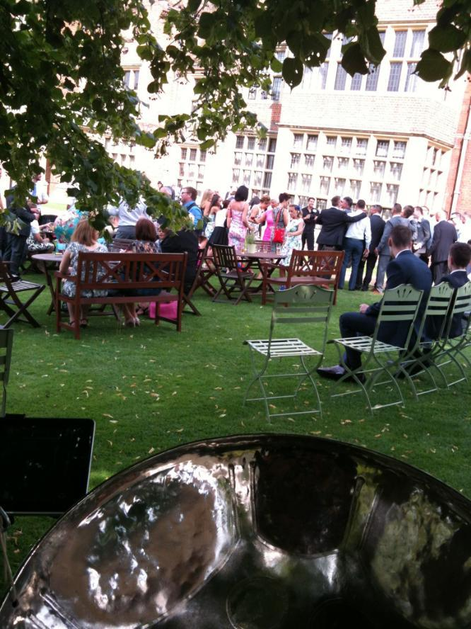 steelband hire for wedding day drinks reception with Steelasophical