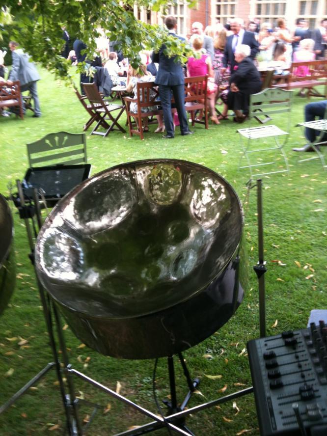 Longstowe Hall | wedding venue Steelasophical Steel Band Drinks Reception 000